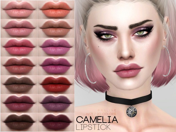 The Sims Resource: Camelia Lipstick N171 by Pralinesims
