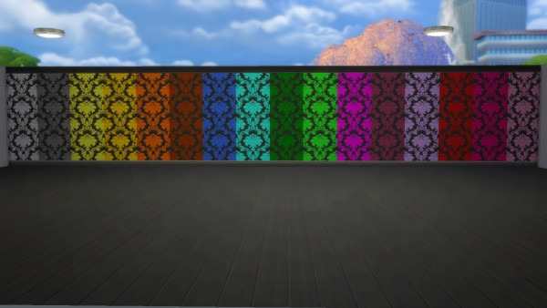 Mod The Sims: Damask Black Version by angea