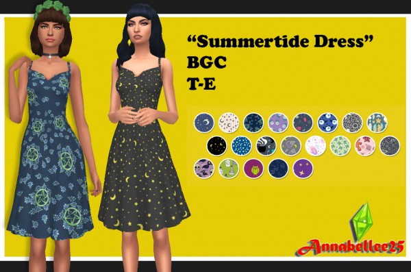 Simsworkshop: Summertide Dress by Annabellee25