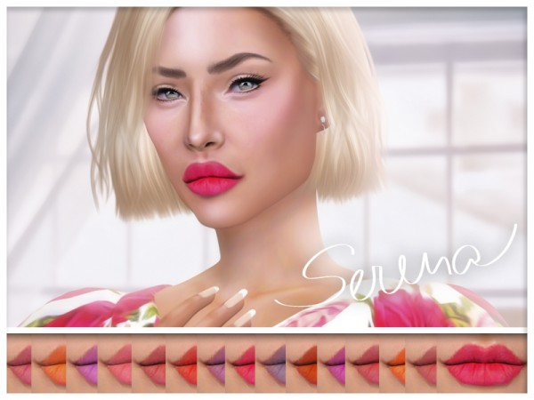 The Sims Resource: Serena Lipstick by KatVerseCC