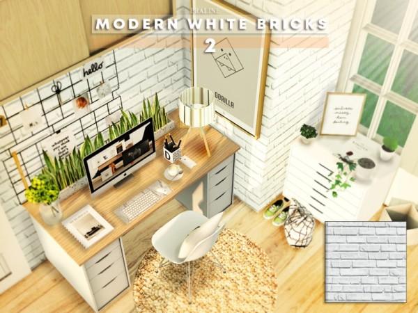 The Sims Resource: Modern White Bricks 2 by Pralinesims