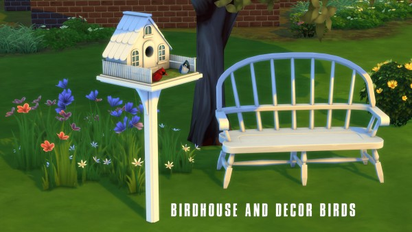 Leo 4 Sims: Birdhouse and birds
