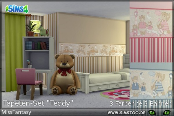 Blackys Sims 4 Zoo: Teddy by MissFantasy
