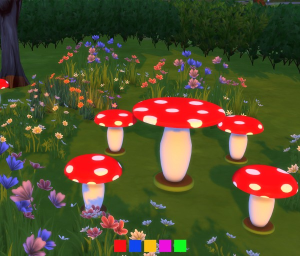Simlish Designs: Mushroom Outdoor Setting