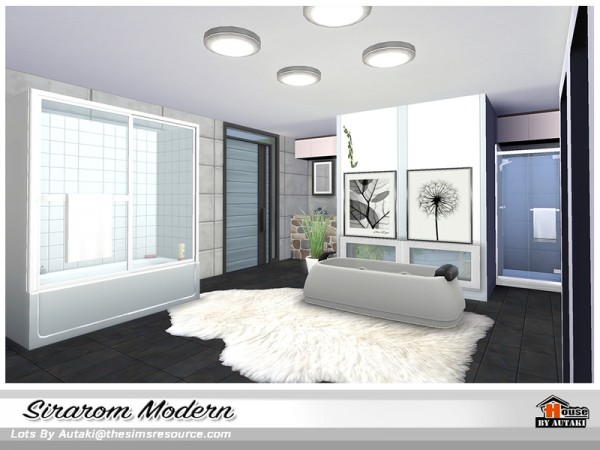 The Sims Resource: Sirarom Modern house by Autaki