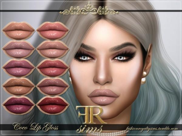 The Sims Resource: Coco Lip Gloss by FashionRoyaltySims