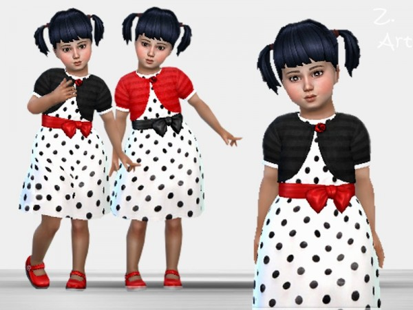 The Sims Resource: Pretty polka dot dress 45 by Zuckerschnute20