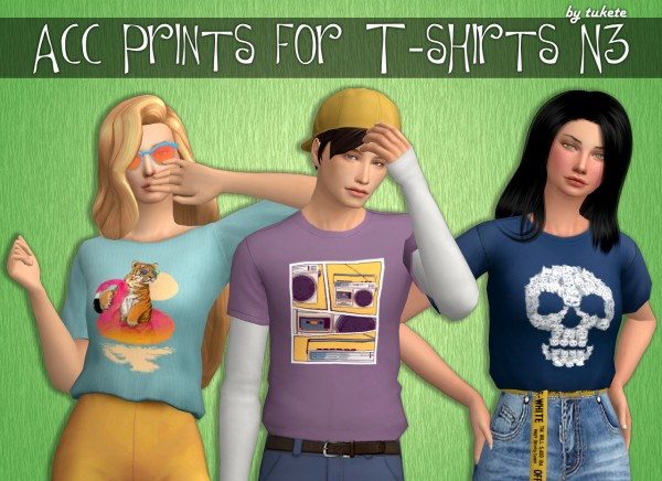 Tukete: Acc Prints for T shirts Part 3