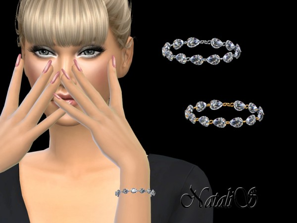 The Sims Resource: Pear cut diamond bracelet by NataliS