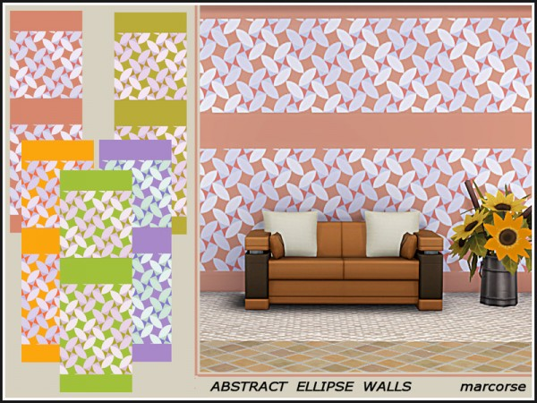 The Sims Resource: Abstract Ellipse Walls by marcorse