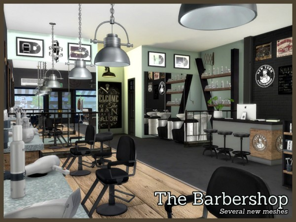 The Sims Resource: The Barbershop by Angela