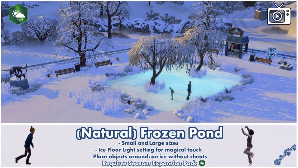Mod The Sims: Frozen Ponds for Ice Skating by Bakie