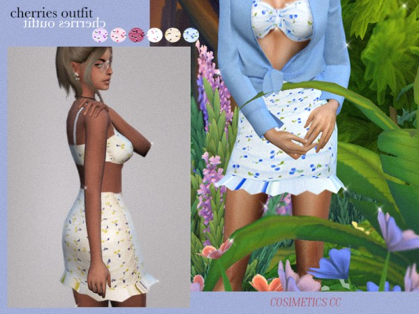 The Sims Resource: Cherries outfit by cosimetics