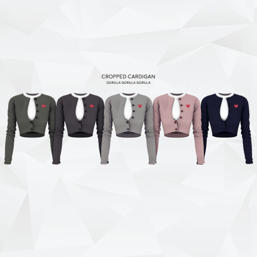 Gorilla: Cropped Cardigan and Cardigan with Shirt