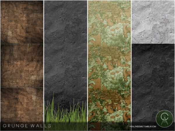 The Sims Resource: Grunge Walls by Pralinesims
