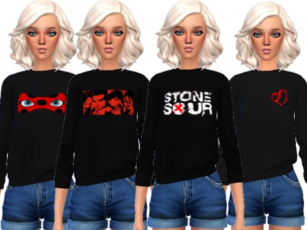 The Sims Resource: Tumblr Themed Sweatshirts by Wicked Kittie