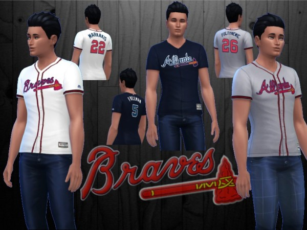 The Sims Resource: Atlanta Braves Jerseys by RJG811