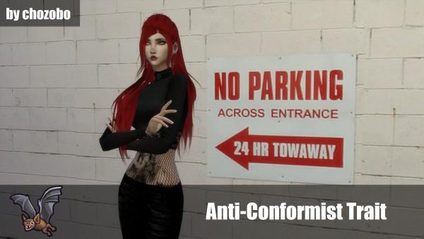 Mod The Sims: Anti Conformist Trait by chozobo
