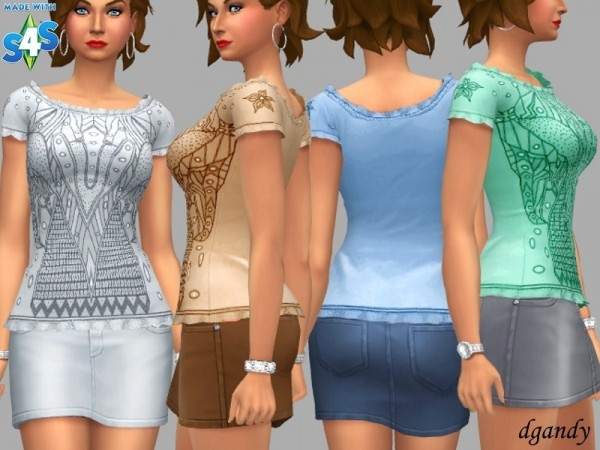 The Sims Resource: Top   Claire by dgandy