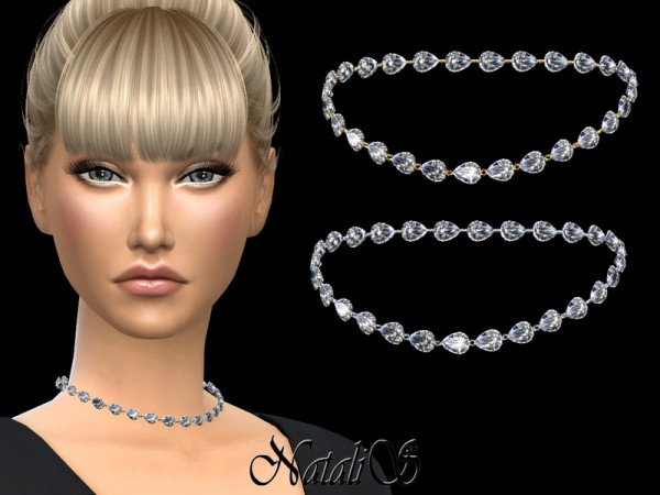 The Sims Resource: Pear cut diamond necklace 001 by NataliS