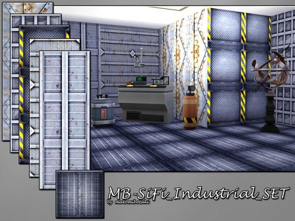 The Sims Resource: SiFi Industrial walls set by matomibotaki