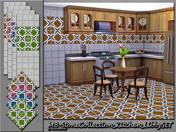 The Sims Resource: Stone Collection Kitchen Libby set by matomibotaki