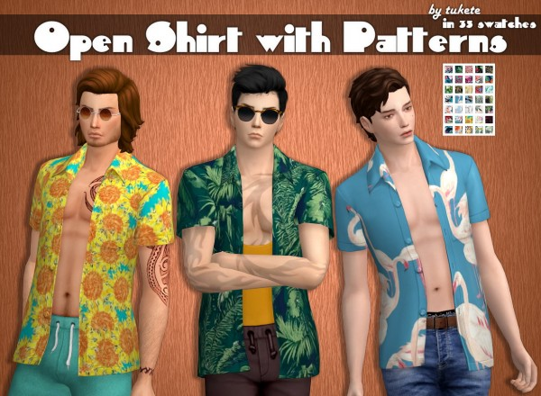 Tukete: Open Shirt with Patterns