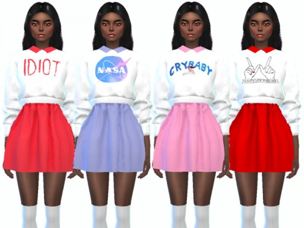 The Sims Resource: Kawaii Sweater Outfits by Wicked Kittie