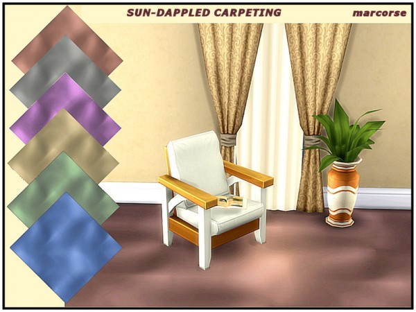 The Sims Resource: Sun Dappled Carpeting by marcorse