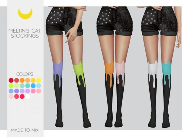 The Sims Resource: Stockings Melting Cat by Kalewa a