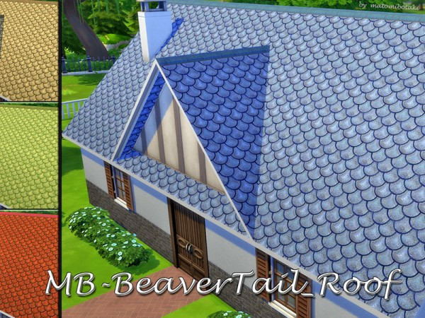 The Sims Resource: Beaver Tail Roof by matomibotaki