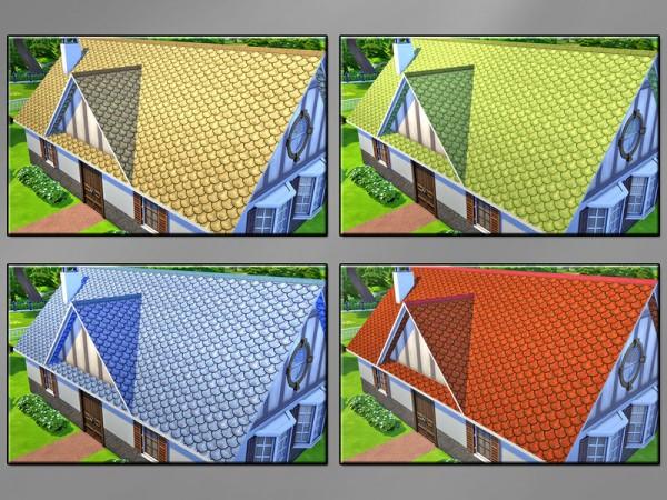 The Sims Resource: Beaver Tail Roof by matomibotaki