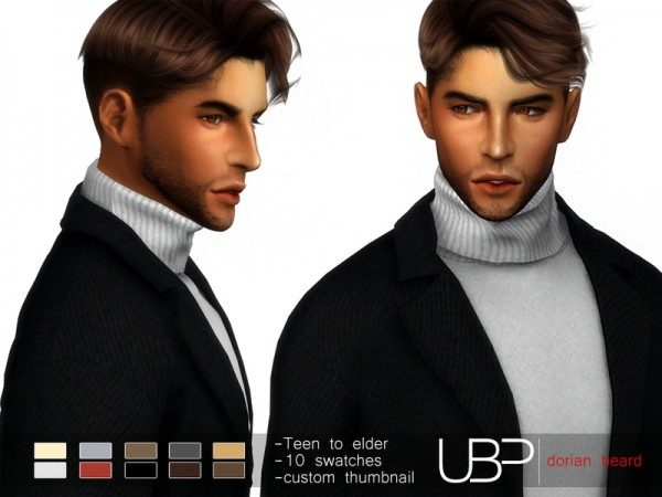 The Sims Resource: Dorian beard by Urielbeaupre