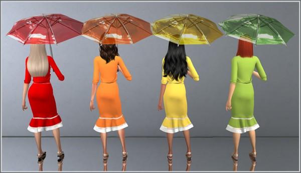 Sims 4 Studio: Transparent Rainbow Umbrellas