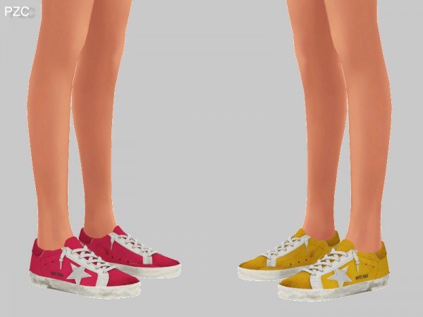 The Sims Resource: Super Star Sneakers Recolor by Pinkzombiecupcakes