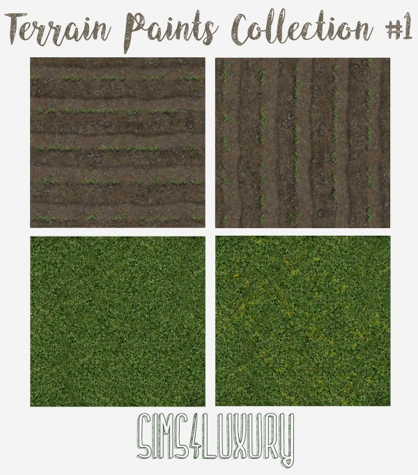 Sims4Luxury: Terrain Paint Collection 1