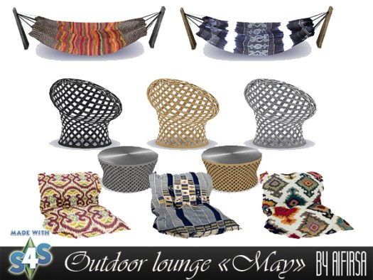Aifirsa Sims: Garden furniture