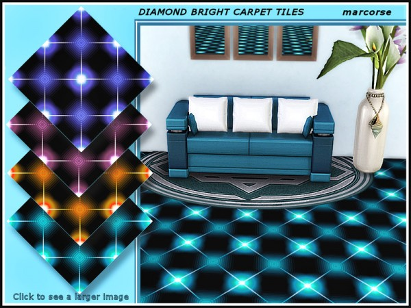 The Sims Resource: Diamond Bright Carpet Tiles by marcorse