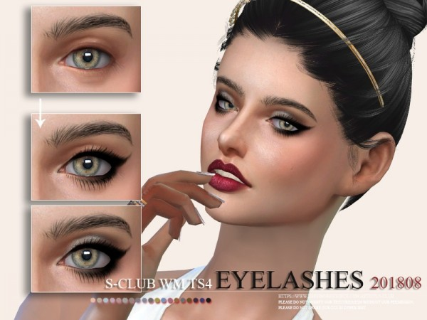 The Sims Resource: Eyelashes 201808 by S Club