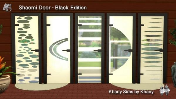 Khany Sims: Shaomi black doors