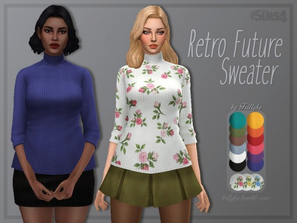 The Sims Resource: Retro Future Sweater by Trillyke