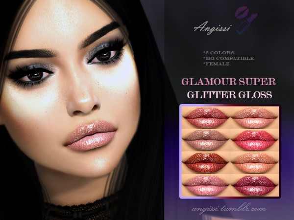 The Sims Resource: Glamour super glitter gloss by ANGISSI