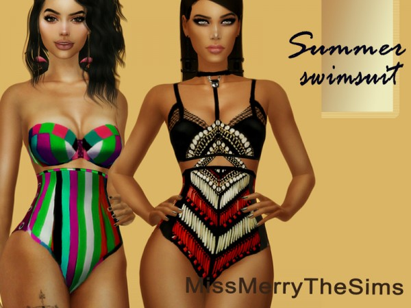 The Sims Resource: Summer Swimsuit by Maria MissMerry