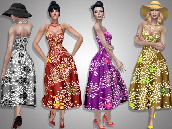 The Sims Resource: Sakura dress by Simalicious