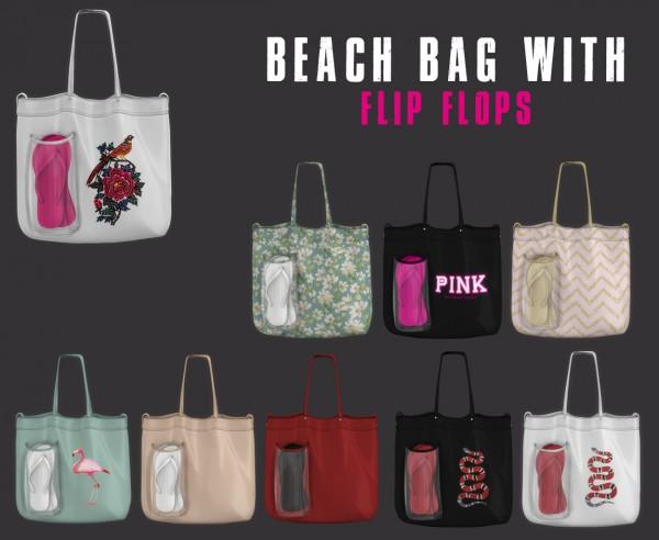 Leo 4 Sims: Beach bags