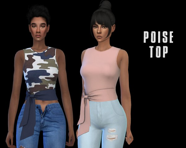 Leo 4 Sims: Poise top recolored