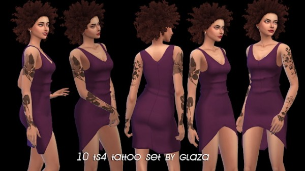 All by Glaza: 10 Tattoo set
