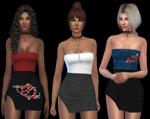Leo 4 Sims: Kelly Dress recolored