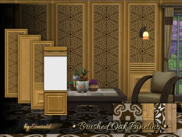 The Sims Resource: Brushed Oak Paneling by emerald