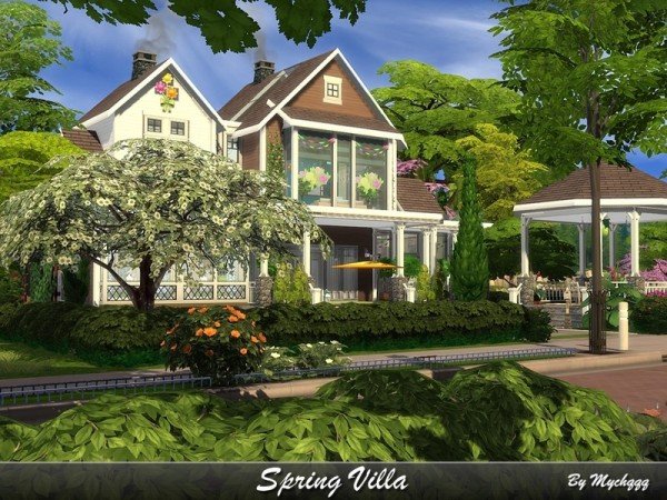 The Sims Resource: Spring Villa by MychQQQ